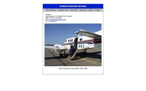 Screenshot of Contact Page aviatool.com - Aviatool technical services - captured Sept. 30, 2014