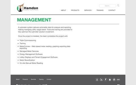 Screenshot of Team Page hamdon.net - Management | Hamdon - captured Oct. 19, 2016