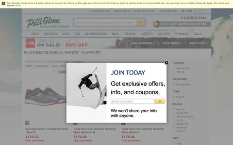 Screenshot of Support Page peterglenn.com - Running Running Shoes - Support | Peter Glenn - captured June 27, 2017