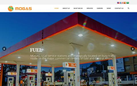 Screenshot of Home Page mogasoil.com - Maestro Oil and Gas Solutions | MOGAS – Global Standards Local Solutions - captured Sept. 24, 2018
