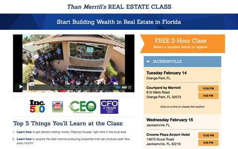 Screenshot of Landing Page fortunebuilders.com - Than Merrill's Real Estate Class - captured Feb. 6, 2017