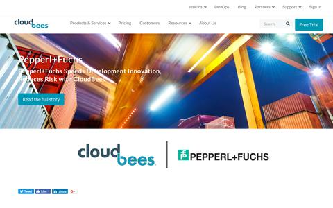 Screenshot of Case Studies Page cloudbees.com - Pepperl+Fuchs Speeds Development Innovation, Reduces Risk with CloudBees | CloudBees - captured Aug. 8, 2018