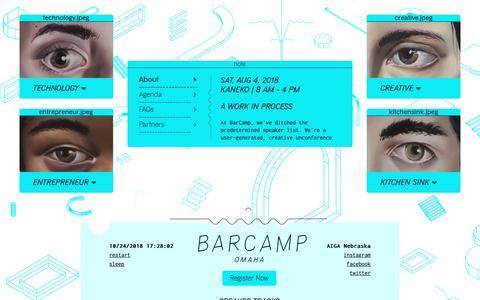 Screenshot of Home Page barcampomaha.org - BarCamp Omaha 2018 - captured Oct. 24, 2018