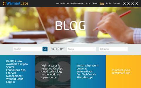 Screenshot of Blog walmartlabs.com - Blog   @WalmartLabs - captured Feb. 2, 2016