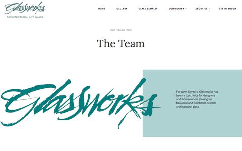 Screenshot of Team Page glassworksinc.com - Team - Glasswork Inc - captured July 19, 2018