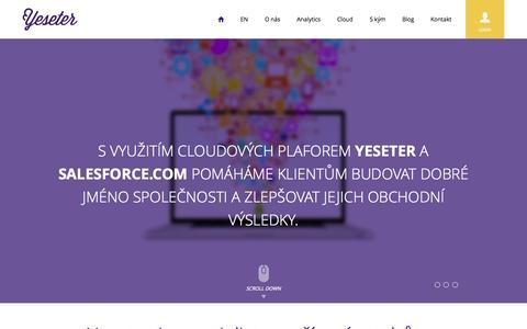 Screenshot of Home Page yeseter.com - Yeseter - captured Oct. 3, 2014