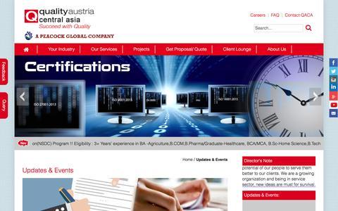 Screenshot of Press Page qualityaustriacentralasia.com - Standards, Training, Testing, Assessment and Certification   Quality austria central asia - captured Nov. 8, 2016
