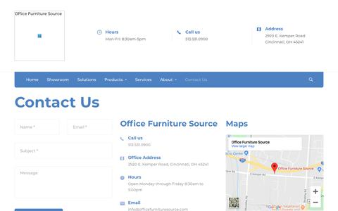 Screenshot of Contact Page officefurnituresource.com - Contact Us 02 - Office Furniture Source - captured Jan. 9, 2020