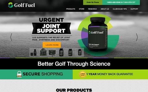 Screenshot of Home Page golffuel.com - Golf Fuel | Better Golf Through Science - captured Nov. 22, 2015