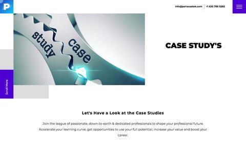Screenshot of Case Studies Page panaceatek.com - Case Studies - Web & Mobile App Design, Development   SEO Services Company - captured Nov. 26, 2019