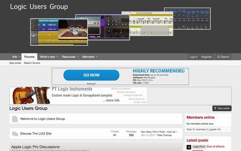 Screenshot of Home Page logic-users-group.com - Logic Users Group - captured Sept. 24, 2018
