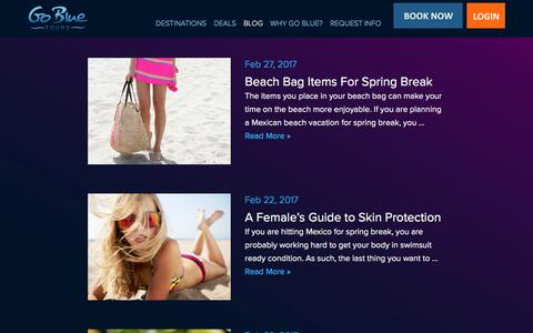 Screenshot of Blog gobluetours.com - Spring Break and Vacation Blog - Go Blue Tours - captured May 21, 2017