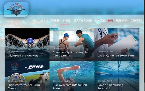 Screenshot of Press Page worldswimmingprospects.com - News | World Swimming Prospects Ltd - captured Dec. 18, 2016