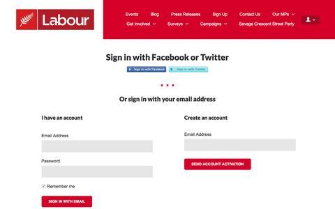 Screenshot of Login Page nationbuilder.com - Sign in - captured May 24, 2016
