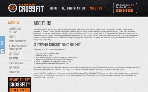 Screenshot of About Page dynamiscrossfit.com - About Us - Dynamis CrossFit - captured Oct. 31, 2014