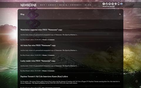 Screenshot of Blog nemecene.com - Blog – Nemecene - captured Feb. 25, 2016