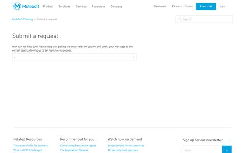 Submit a request – MuleSoft Training