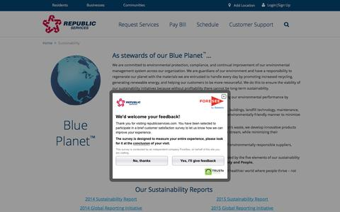 Preserving a Blue Planet Through Sustainability | Republic Services