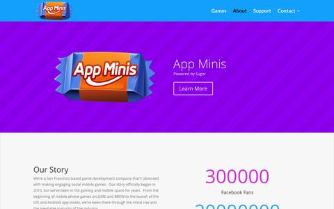 Screenshot of About Page appminis.com - About | App Minis - captured Nov. 21, 2016