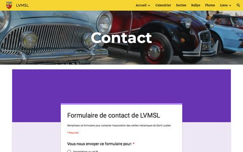 Screenshot of Contact Page google.com - LVMSL - Contact - captured June 12, 2018
