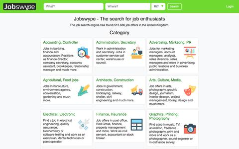 Screenshot of Home Page jobswype.co.uk - Jobs - job offers - work - hiring in England Scotland Wales - Jobswype - captured July 9, 2018