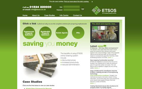 Screenshot of Case Studies Page etsos.co.uk - ETSOS The Complete Property Solution - captured Dec. 6, 2015