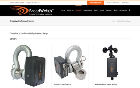 Screenshot of Products Page broadweigh.com - BroadWeigh Product Range - Broadweigh - captured Aug. 4, 2018