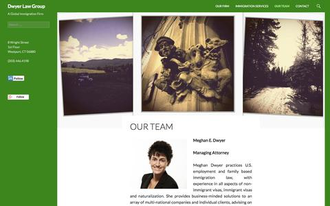 Screenshot of Team Page dwyerimmigration.com - Our Team | Dwyer Law Group - captured Oct. 5, 2014