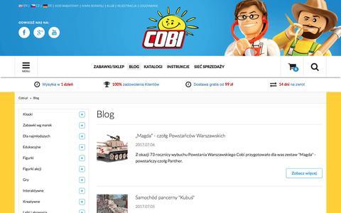 Screenshot of Blog cobi.pl - Blog  - Sklep z zabawkami Cobi.pl - captured July 9, 2017
