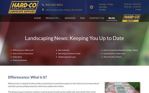 Screenshot of Blog hard-co.com - Hard-Co Sand & Gravel   Blog - captured Oct. 22, 2018