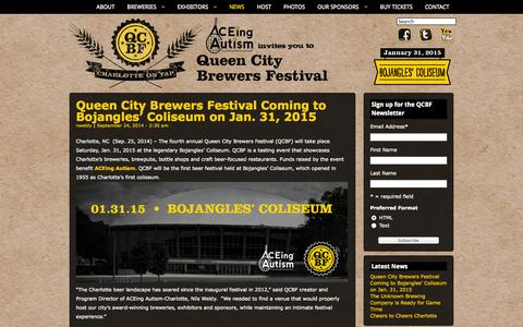 Screenshot of Press Page qcbrewfest.com - News Archives | Queen City Brewers Festival - captured Oct. 3, 2014