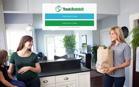 Screenshot of Signup Page taskrabbit.com - TaskRabbit connects you to safe and reliable help in your neighborhood - captured Nov. 18, 2015