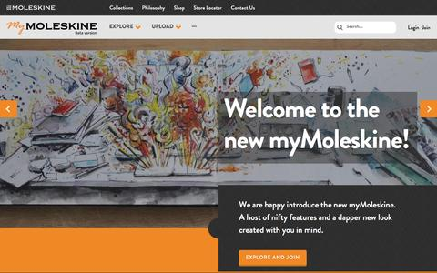 myMoleskine Home Page - myMoleskine Community
