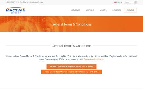 Screenshot of Terms Page mactwin.com - General Terms & Conditions - captured Sept. 27, 2017