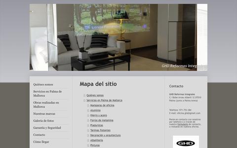 Screenshot of Site Map Page ghdreformas.es - Reformas, obras mayores, obras menores, locales, naves, hogar - captured Jan. 25, 2016
