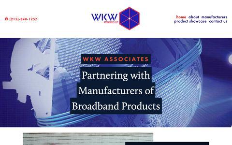 Screenshot of Home Page wkwassociates.com - WKW Associates - captured Oct. 20, 2018