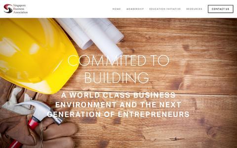 Screenshot of About Page sba.sg - SBA — Singapore Business Association - captured Feb. 4, 2016