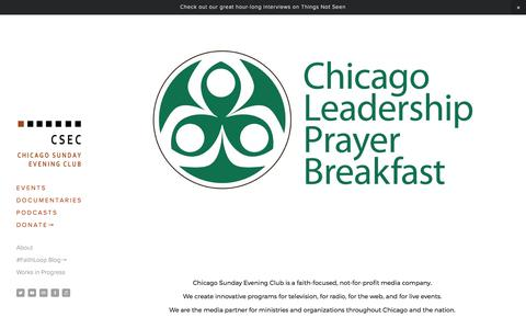 Screenshot of Home Page csec.org - csec - captured July 28, 2017