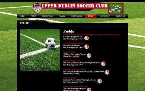 Screenshot of Maps & Directions Page upperdublinsoccerclub.org - udsc | FIELDS - captured Oct. 19, 2018