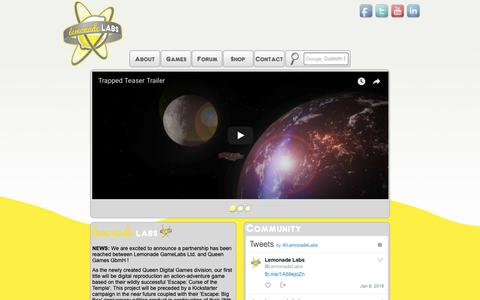 Screenshot of Home Page lemonadelabs.ca - Lemonade Labs :: Lemonade Labs - captured Sept. 28, 2018
