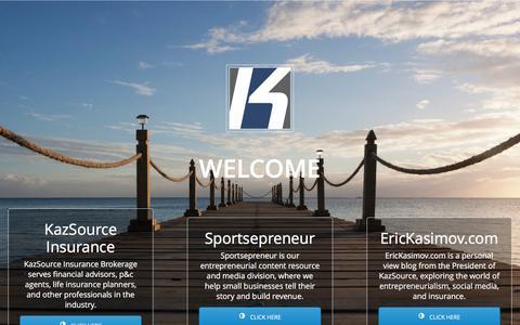 Screenshot of Home Page kazsource.com - KazSource - captured Aug. 8, 2016