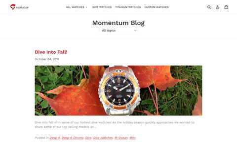 Screenshot of Press Page momentumwatch.com - Momentum Blog                      – Momentum Watches US - captured Oct. 24, 2017