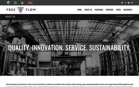Screenshot of About Page Contact Page Team Page freeflowwines.com - About Us – Free Flow Wines - captured March 22, 2018