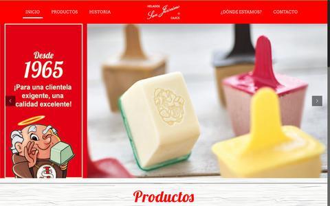 Screenshot of Home Page heladossanjeronimocajica.com - San Jeronimo – Página Web San Jerónimo - captured July 18, 2018