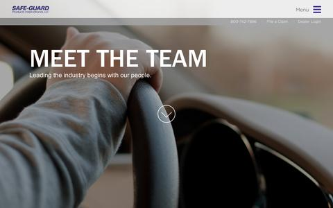 Screenshot of Team Page safe-guardproducts.com - Leadership | Safe-Guard Products - captured Dec. 20, 2015