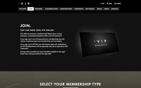 Screenshot of Signup Page ivipworld.com - Join | iVIP - captured Oct. 6, 2014