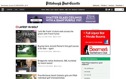 Golf | Pittsburgh Post-Gazette