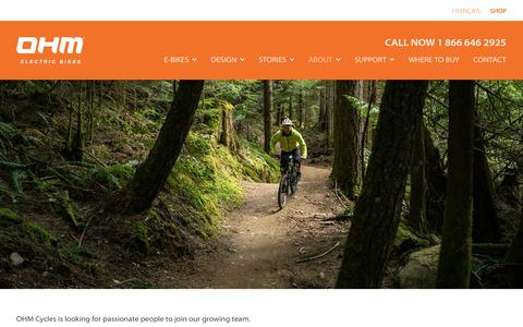 Screenshot of Jobs Page ohmcycles.com - Careers   OHM Cycles - captured Dec. 2, 2016