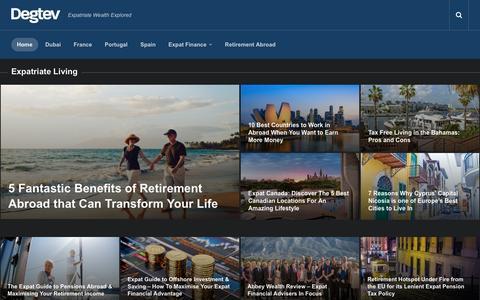 Screenshot of Home Page degtev.com - Degtev - Expatriate Wealth Explored - captured May 6, 2017
