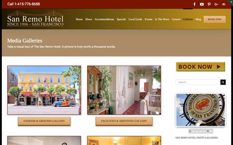 Screenshot of Press Page sanremohotel.com - San Remo Hotel - San Francisco Hotels & Lodging - captured July 27, 2018
